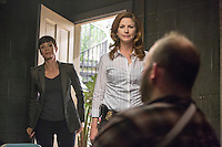 """Zoe McLellan as Special Agent Meredith Brody and Diane Neal as CGIS Agent Abigail Borin in CBS's """"NCIS: New Orleans"""" Season 1"""