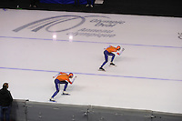 SPEEDSKATING: CALGARY: Olympic Oval, 26-02-2017, ISU World Sprint Championships, 100m Men, Kai Verbij (NED), Ronald Mulder (NED), ©photo Martin de Jong