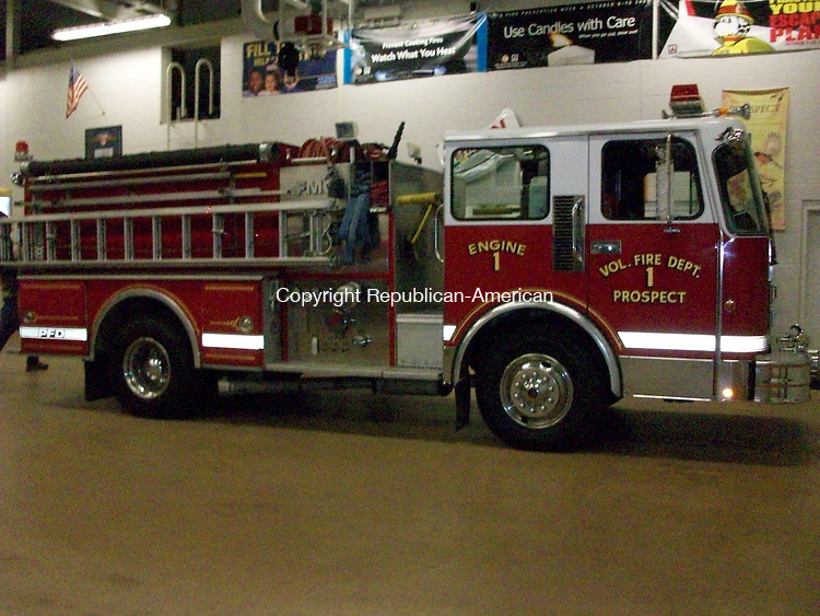 PROSPECT, CT - 7 September 2010 - 090710QL01 - Residents at a town meeting Tuesday night approved a lease/purchase agreement to replace this 22-year-old pumper truck at the Prospect Volunteer Fire Department. Quannah Leonard Republican-American
