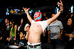 A Lucha Libre AAA fan taunts the wrestlers at a match in Sacramento, CA March 28, 2009.
