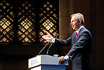 Former British prime minister Tony Blair speaks during presentation of his climate report in Tokyo, Japan on 27 June 2008..Photographer:Robert Gilhooly
