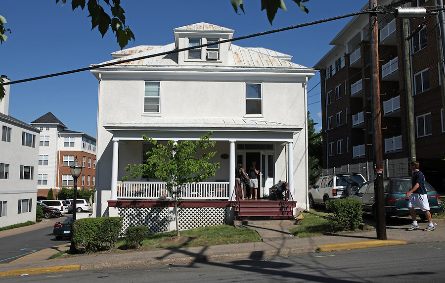 George Huguely, 22, a member of UVa's nationally ranked men's lacrosse team, faces a first-degree murder charge in the slaying of Yeardley Love, also 22, a women's lacrosse player who was killed in her apartment(shown) earlier this week in Charlottesville, Va. Both Love and Huguely on the 200 block of 14th Street NW. (Credit Image: © Andrew Shurtleff)..