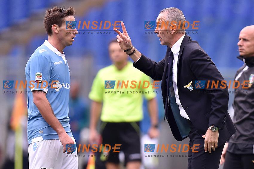 Lucas Biglia, Stefano Pioli Lazio <br /> Roma 18-01-2015 Stadio Olimpico, Football Calcio Serie A Lazio - Napoli. Foto Andrea Staccioli / Insidefoto