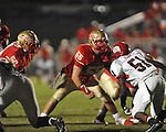 Lafayette High's Trae Pruitt (55) vs. Shannon in Oxford, Miss. on Friday, September 14, 2012. Lafayette won 44-25 over Shannon to improve to 4-1.