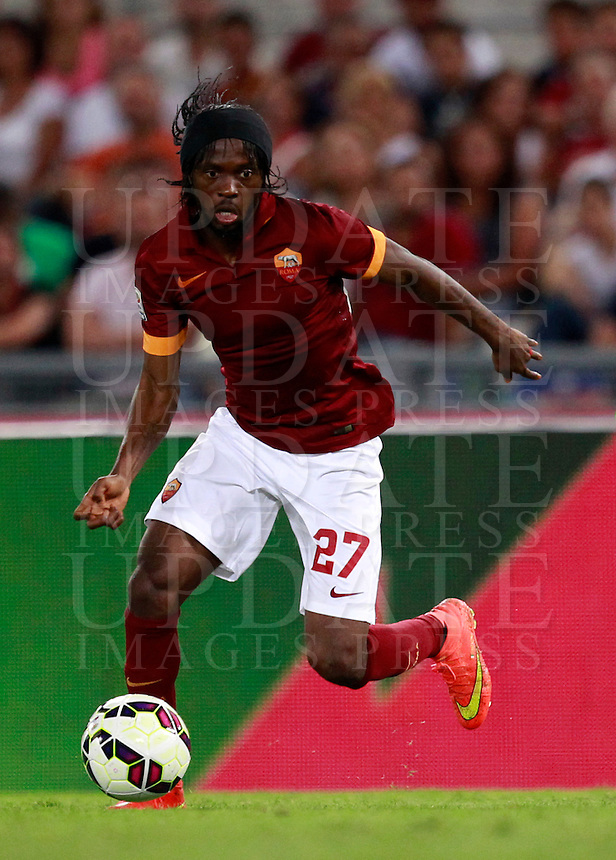 Calcio, amichevole Roma vs Fenerbahce. Roma, stadio Olimpico, 19 agosto 2014.<br /> Roma forward Gervinho, of Ivory Coast, in action during the friendly match between AS Roma and Fenerbahce at Rome's Olympic stadium, 19 August 2014.<br /> UPDATE IMAGES PRESS/Isabella Bonotto