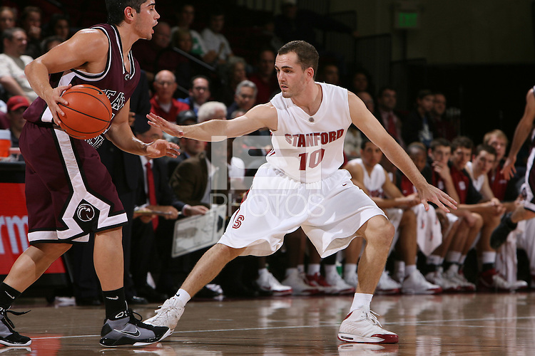 STANFORD, CA - NOVEMBER 8:  Drew Shiller of the Stanford Cardinal during Stanford's 97-56 win over Seattle Pacific on November 8, 2008 at Maples Pavilion in Stanford, California.