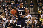 24 February 2016: Notre Dame's Demetrius Jackson. The Wake Forest University Demon Deacons hosted the University of Notre Dame Fighting Irish at Lawrence Joel Veterans Memorial Coliseum in Winston-Salem, North Carolina in a 2015-16 NCAA Division I Men's Basketball game. Notre Dame won the game 69-58.