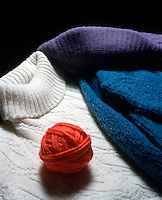 ORLON YARNS AND KNITS<br /> Acrylic fiber<br /> Orlon was the first commercial acrylic fiber, manufactured in 1949. It is created by the polymerization of acrylonitrile.