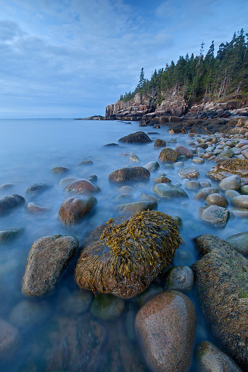 Pre-dawn at Boulder Beach and the Otter Cliffs, Acadia National Park, Maine, USA