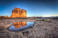 Courthouse reflection - Arches NP - Utah