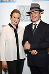 Jennifer Ehle and Jefferson Mays attend the Opening Night Performance press reception for the Lincoln Center Theater production of 'Oslo' at the Vivian Beaumont Theater on April 13, 2017 in New York City.
