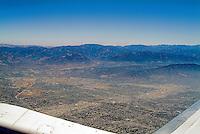Aerial, View, Leaving, Los Angeles, CA, en-route to San Francisco, CA