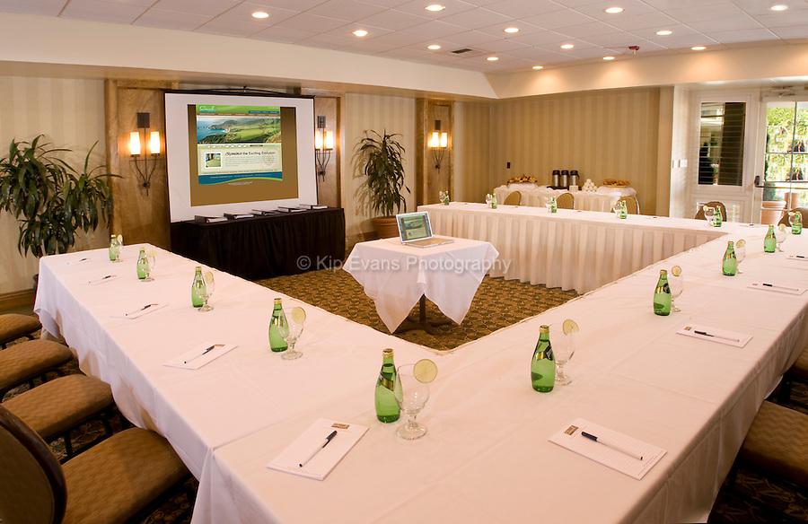 A conference room of Carmel Mission Inn in Carmel, California.