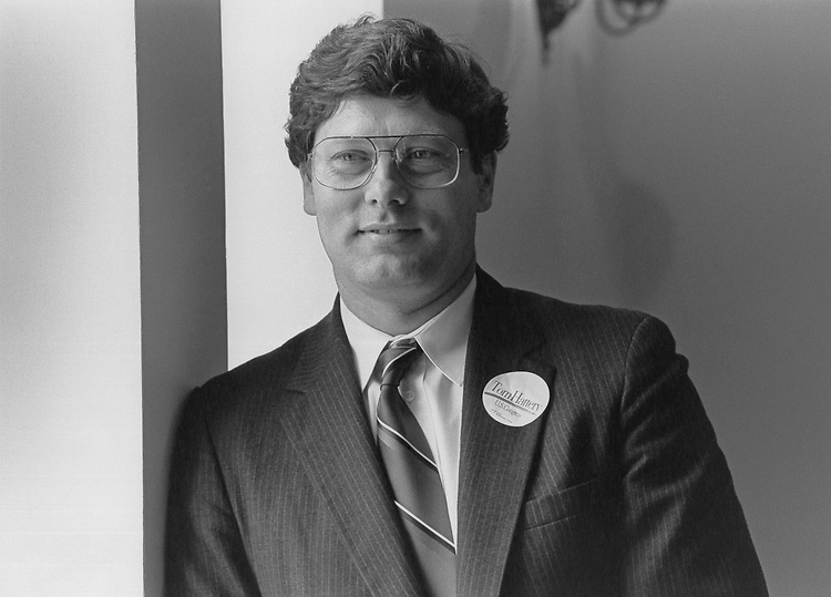 Thomas Hattery defeats Democratic Representative Beverly B. Byron in Maryland primary. March 4, 1992 (Photo by Laura Patterson/CQ Roll Call)