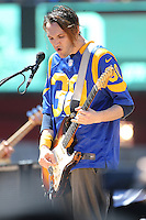 091816 Los Angeles, CA: Josh Klinghoffer and The Red hot Chili Peppers perform at the Los Angeles Memorial Coliseum before the Los Angeles Rams 2016 home opener