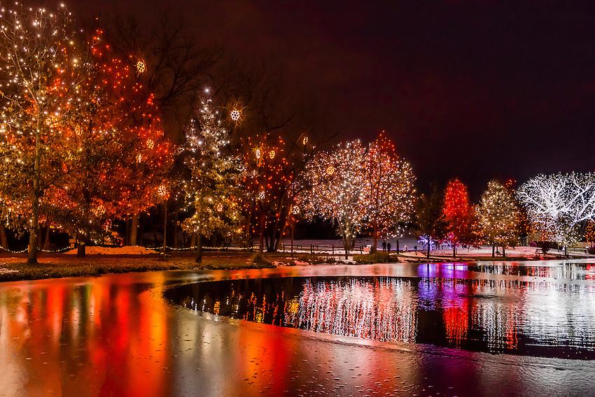 A Hudson Christmas Holiday Light Show At Hudson Gardens