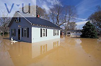 Home flooded by the Ohio River in flood of nineteen nintey seven. Utica, Indiana