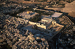 Israel, Jerusalem Old City, an aerial view of Temple Mount