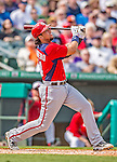 2 March 2013: Washington Nationals infielder Chris Marrero in action during a Spring Training game against the St. Louis Cardinals at Roger Dean Stadium in Jupiter, Florida. The Nationals defeated the Cardinals 6-2 in their first meeting since the NLDS series in October of 2012. Mandatory Credit: Ed Wolfstein Photo *** RAW (NEF) Image File Available ***