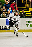 17 October 2015: University of Nebraska Omaha Maverick Forward Luke Nogard, a Sophomore from Ancaster, Ontario, in first period action against the University of Vermont Catamounts at Gutterson Fieldhouse in Burlington, Vermont. The Mavericks defeated the Catamounts 3-1 in the second game of their weekend series. Mandatory Credit: Ed Wolfstein Photo *** RAW (NEF) Image File Available ***