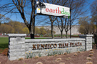 The entrance sign to Kensico Dam Plaza County Park in Valhalla, Westchester County, New York