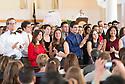 From left, Andrew Tranmer, Shierra Trejos, Amy Triano, Alejandro Velez, Jacqueline Wade, Katherine Wang. Class of 2017 White Coat Ceremony.