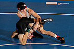 12 MAR 2011:  Todd Wilcox of Grand Canyon wrestles BJ Young of Newberry during the Division II Men's Wrestling Championship held at the UNK Health and Sports Center on the University of Nebraska - Kearney campus in Kearney, NE.  Wilcox defeated Young 7-2 to win the 133-lb national title.  Corbey R. Dorsey/ NCAA Photos