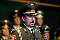A baritone soloist of the Russian Army Choir ?Alexandrov Ensemble? sings solo part during a concert given in Loket, Czech Republic, 14 June 2009. Alexandrov Ensemble (established in 1928) is the official army choir of the Russian armed forces (Red Army). The ensemble consists of a male choir, a music orchestra and a dance ensemble. The music repertoire of Alexandrov Ensemble range from traditional Russian balalaika tunes to church hymns, Italian opera arias and pop music songs.