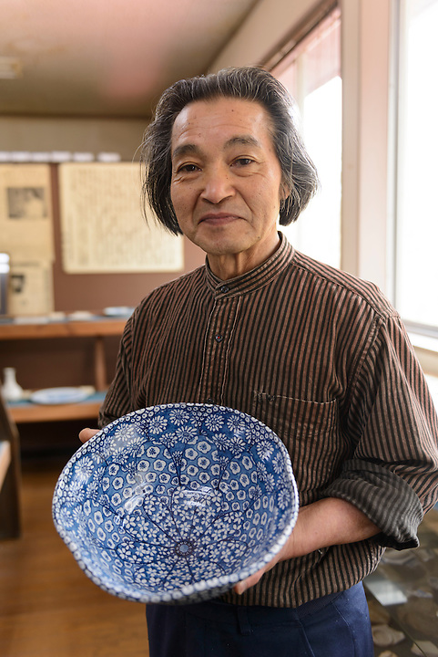 Ceramicist Hyodo Ito. Ginzan Onsen, Yamagata Prefecture, Japan, April 13, 2016. Once a sliver-mining town, Ginzan Onsen in Yamagata Prefecture is now one of Japan's best-known and most picturesque hot spring resorts. Its Taisho-period architecture and retro atmosphere is said to have been an inspiration for Hayao Miyazaki's Oscar-winning animated film, Spirited Away.