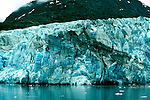 Alaska: Glacier Bay National Park, Margerie Glacier as seen from a cruise ship.  Photo akglac103..Photo copyright Lee Foster, 510/549-2202,  lee@fostertravel.com, www.fostertravel.com