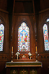New Zealand, North Island, Wellington, Old St Paul's church window.  Photo copyright Lee Foster. Photo #126556.