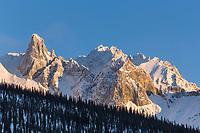 Spire of Mt Snowden in the Brooks Range, Arctic, Alaska.