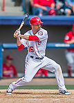 13 March 2016: Washington Nationals infielder Scott Sizemore in action during a pre-season Spring Training game against the St. Louis Cardinals at Space Coast Stadium in Viera, Florida. The teams played to a 4-4 draw in Grapefruit League play. Mandatory Credit: Ed Wolfstein Photo *** RAW (NEF) Image File Available ***