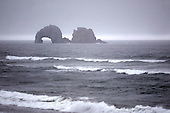 August 18, 2008 :  Ruff waves could be seen crashing on the beachs of Rockaway, Oregon during an afternoon rain storm.  The Oregon beaches are tourist attractions during the summer months.