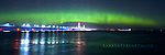 Mackinac Bridge, Aurora, Northern Lights, Panorama