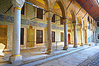Courtyard of the Eunuchs in the Harem. Topkapi Palace, Istanbul, Turkey