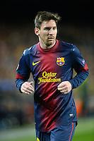 FUSSBALL  CHAMPIONS LEAGUE  ACHTELFINALE  RUECKSPIEL  2012/2013      FC Barcelona  - AC Mailand      13.03.2013 Lionel Messi (Barca)