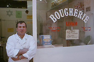 May 1989 --- Kosher butcher in Marseille. --- Image by © JP Laffont