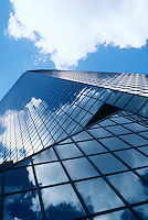 REFLECTIONS IN MIRRORED BUILDING<br />