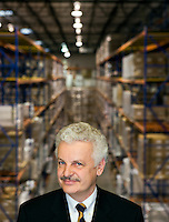 Portrait of Jörg Ohle - Head of Bayer HealthCare LLC, Animal Health Division North America.  Photographed at their Kansas City, MO facility.
