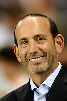 MLS Commissioner Don Garber...Sporting KC were held to a scoreless tie with Chicago Fire in the inauguarl game at LIVESTRONG Sporting Park, Kansas City, Kansas.