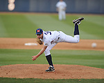 Ole Miss' Dylan Chavez pitches vs. North Carolina-Wilmington's  at Oxford-University Stadium in Oxford, Miss. on Saturday, February 25, 2012. Ole Miss won 6-4.