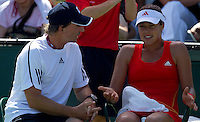 Ana IVANOVIC (SRB) against Agnieszka RADWANSKA (POL) in the third round of the women's singles. Radwanska beat Ivanovic 7-5 7-5..International Tennis - 2010 ATP World Tour - Sony Ericsson Open - Crandon Park Tennis Center - Key Biscayne - Miami - Florida - USA - Sat 27 Mar 2010..© Frey - Amn Images, Level 1, Barry House, 20-22 Worple Road, London, SW19 4DH, UK .Tel - +44 20 8947 0100.Fax -+44 20 8947 0117