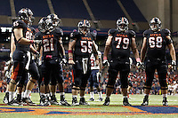 SAN ANTONIO, TX - OCTOBER 8, 2011: The University of South Alabama Jaguars vs. The University of Texas at San Antonio Roadrunners Football at the Alamodome. (Photo by Jeff Huehn)