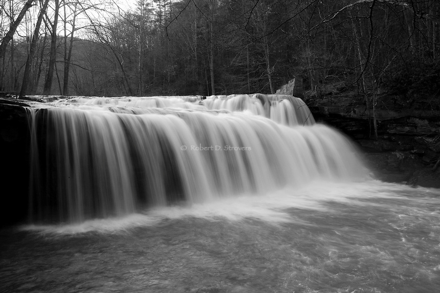 Waterfalls, Rivers and Streams in Western PA and West Virginia. Images both black and white and color.