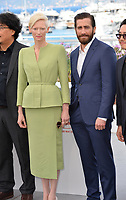 Tilda Swinton &amp; Jake Gyllenhaal at the photocall for &quot;Okja&quot; at the 70th Festival de Cannes, Cannes, France. 19 May 2017<br /> Picture: Paul Smith/Featureflash/SilverHub 0208 004 5359 sales@silverhubmedia.com