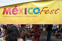 Sign at the Mexico Fest 2012 celebrations on Sept. 8, 2012 in Vancouver, British Columbia, Canada. These celebrations commemorated 202 years of Mexican Independence.