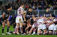 Taulupe Faletau of Bath Rugby in action at a scrum. European Rugby Challenge Cup match, between Bath Rugby and Cardiff Blues on December 15, 2016 at the Recreation Ground in Bath, England. Photo by: Patrick Khachfe / Onside Images
