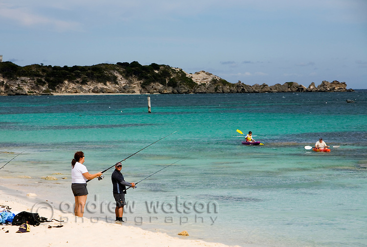 Holidaymakers at Hamelin Bay in the Leeuwin-Naturaliste National Park, Western Australia, AUSTRALIA.