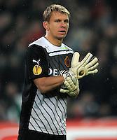 FUSSBALL   EUROPA LEAGUE   SAISON 2011/2012  SECHZEHNTELFINALE Hannover 96 - FC Bruegge                                    16.02.2012 Torwart Vladan Kujovic (Bruegge)